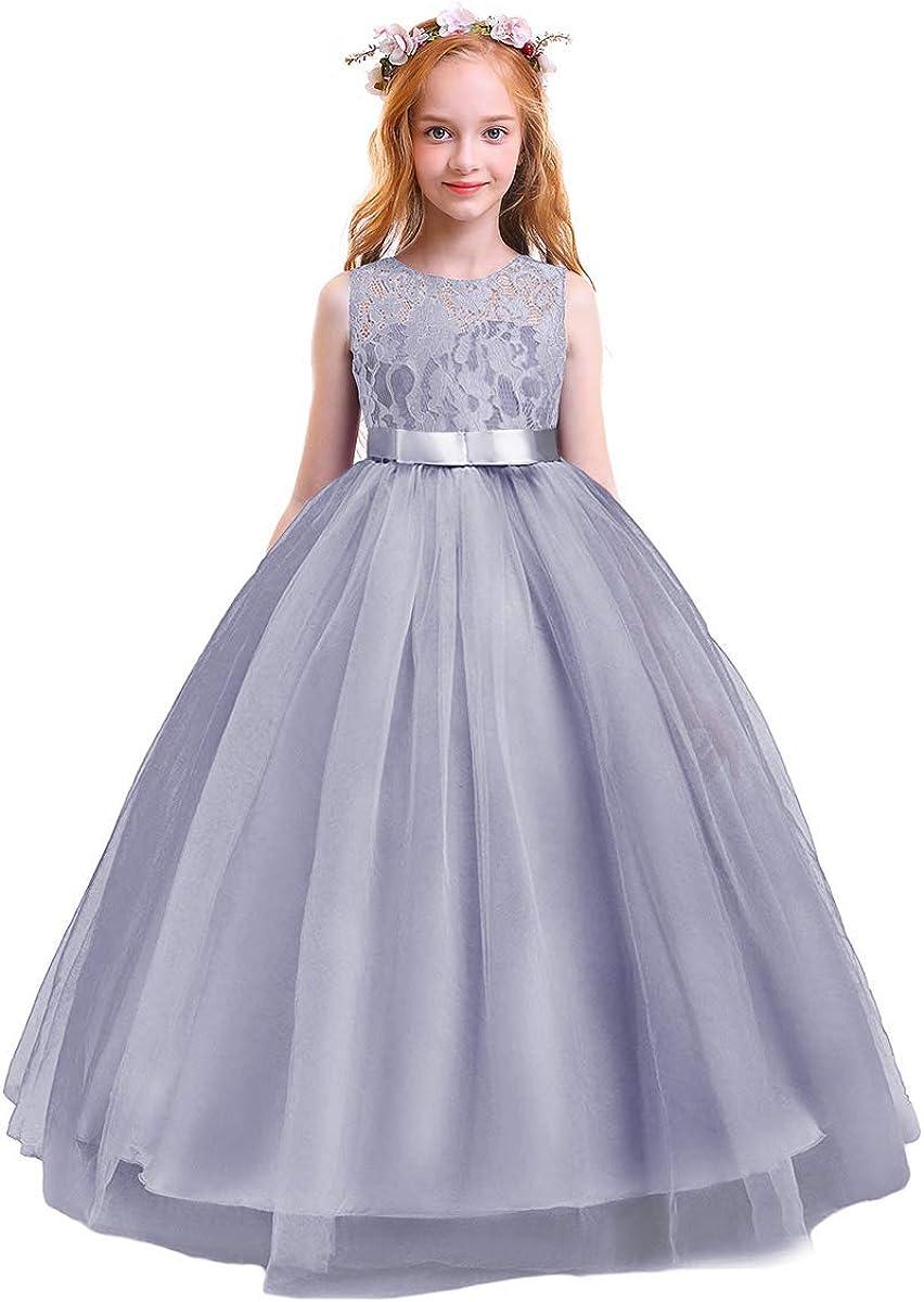 Flower Girl Lace Long Princess Formal Branded goods 55% OFF Party Wedding Dresses Kids