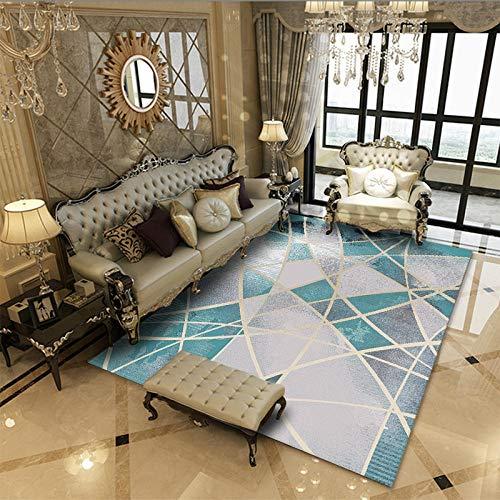 Vlejoy Alfombras Salon Modernas Sala de Estar Alfombra Dormitorio Comedor Sofá Clásico Azul Fluorescente 160x230cm