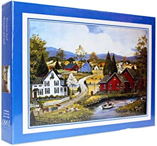 Wooden Jigsaw Puzzles for Kids, 1000 Piece Colorful Paper Landscape Pattern Puzzles for Toddler Children Learning Educational Puzzles Toys for Kids Adult (Multicolor)