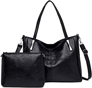 BUKESIYI Damen Tasche Handtasche Umhängetasche Schultertasche Frauen Kulturbeutel Weekender Klein PU Leder CCDE77122