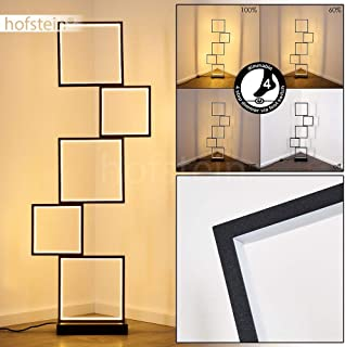 Lampadaire LED Bacolod en métal noir, luminaire moderne à intensité variable, 34 Watt, 3400 Lumen max, 3000 Kelvin (blanc ...