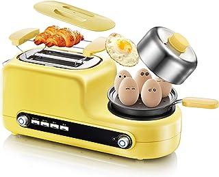 LHY Kitchen 5-en-1 Grille-Pain, Grille-Pain Multifonction avec Egg Cooker, Mini Frying Pan, 2 tranches Grille-Pain, avec d...