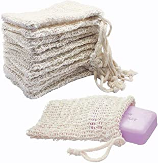 KIPETTO 15Pcs Natural Sisal Soap Bags Exfoliating Mesh Soap Saver Pouch, 5.5