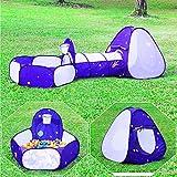 Homfu 3 en 1 Juegos Parque Infantil túnel Casa para Muchachos Muchachas para Al Aire Libre Caminatas Chilren Playtent con Popup Design No Contiene Pelota(Piscina de Bolas)
