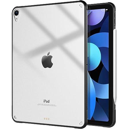iPad air 4 ケース 2020 10.9インチ TiMOVO iPad air 4 カバー iPad Air 第4世代 TPU縁+PC背面ケース 第二世代 Pencil ワイヤレス充電対応 Touch IDスムーズに対応 軽量 一体感 耐衝撃 ストラップホール付き シンプル 高級クリアケース ブラック