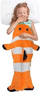 Clownfish Tail Blanket for Kids, Super Soft Fleece Sleeping Bag for Toddler Teen Girls Boys, Great Idea