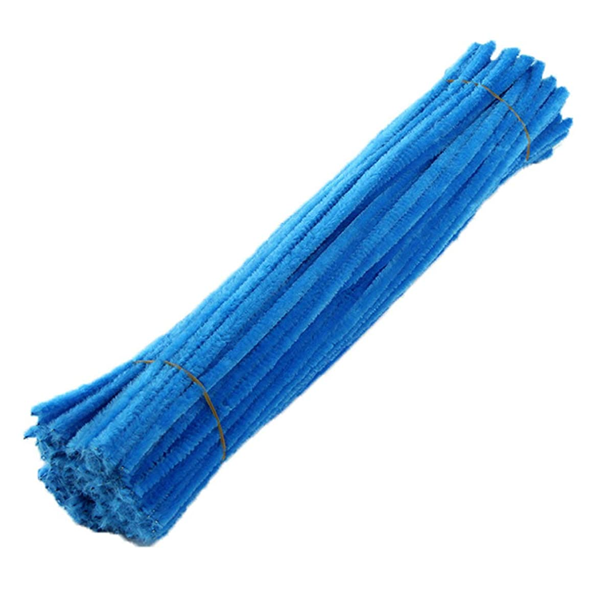 Pipe Cleaners 100 Pieces 6 x 300 mm Chenille Stem for Arts and Crafts (Blue)