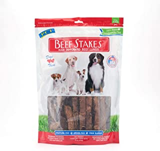Premium All Natural Made in the USA Beef Stakes Beef Lung Dog Treats - 1 Pound Package