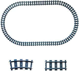 24X Train Tracks Non-Powered City Railroad Compatible with Major Brands Building Block Toy Gifts