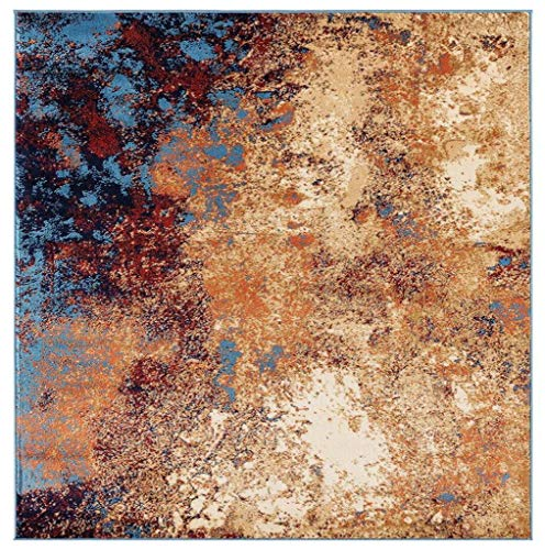 Luxe Weavers Howell Collection Abstract 8x10 Blue Area Rug Connecticut