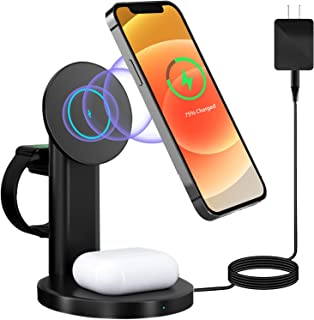 Acdoob 3 in 1 Magnetic Wireless Charger, Fast Wireless...