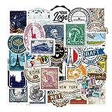 LYDP 50 sellos de viaje retro para ordenador, teléfono móvil, taza de agua, maleta, graffiti, personalidad,...