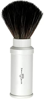 Travel Shave Brush- Synthetic (Silver)