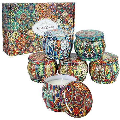 6 Pack Velas Aromaticas, Vela Perfumadas de Regalo para Cumpleaños, Día de La Madre, Día de San Valentín, Navidad
