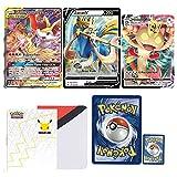 Totem World 3 Oversized Jumbo Pocket Monster Cards with Totem Jumbo Oversize Card Binder Collectors Album or 25th Anniversary Binder