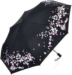 ANNY 8リブ自動開閉防風雨傘防水旅行傘ポータブル傘人間工学的ハンドル、黒