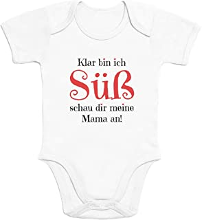 Shirtgeil Mädchen - Klar Bin ich Süß schau dir Meine Mama an Baby Body Kurzarm-Body