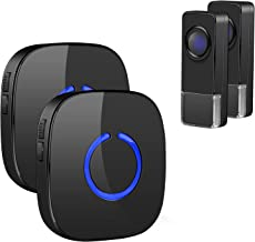 Wireless Doorbell, Remote Door Bell Ringer Wireless Long Range 300M with 58 Melodies, Coolqiya Portable Doorbell with 2 Pl...