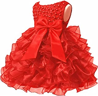 dc36daf99d2a Baby Girl Dresses Ruffle Lace Pageant Party Wedding Flower Girl Dress