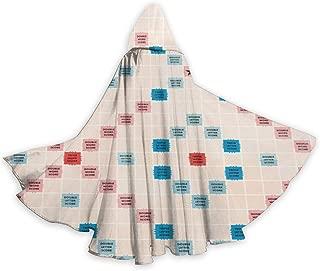 Unisex Hooded Cloak 59 Inch, Adult Scrabble Cloak for Halloween/Party/Cosplay Cloak