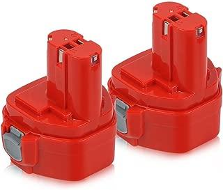 Enegitech 2Pack 12V 3.0Ah Ni-MH Battery for Makita 192598-2 1200 1220 1201 1222 1233 1234 1235 192681-5 Cordless Power Tools
