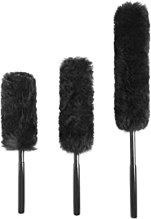 Premium Wool Wheel Brushes 3-Piece Kit, Metal Free,100% Lambswool No Scratch Brushes for Rims,Auto Detailing with Rubber Grip