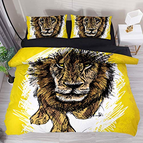Cute African Girl's Profile Print On Soft Duvet Cover Set, Premium Microfiber, Comforter Cover-3pcs:1x Duvet Cover 2 X Pillowcases,with Zipper Closure (Queen Size)