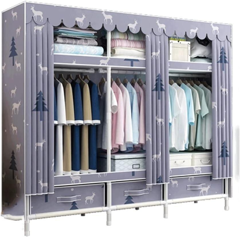 BIAOYU Wardrobe Storage Closet Max 57% OFF Wardrob Portable Clothes Dealing full price reduction