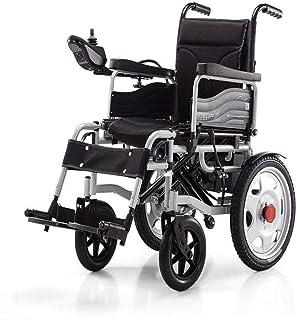 Sillas de ruedas eléctricas para adultos Silla de ruedas eléctrica accionada silla de ruedas plegable de peso ligero 34 kg, fuerte y durable for el uso, Sillas de ruedas motorizada Conveniente for el