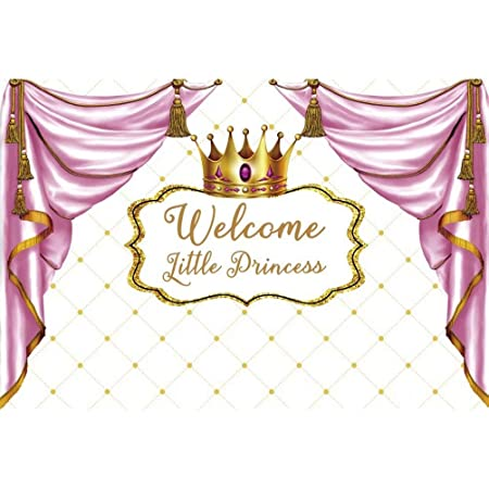 5X3ft DIY Photo Booth Backdrop Pink Background Crown Princess Carnival Photography Background Backdrop Birthday Party Baby Shower Newborn Portrait Photo Backdrops Photo Studio Background for Party