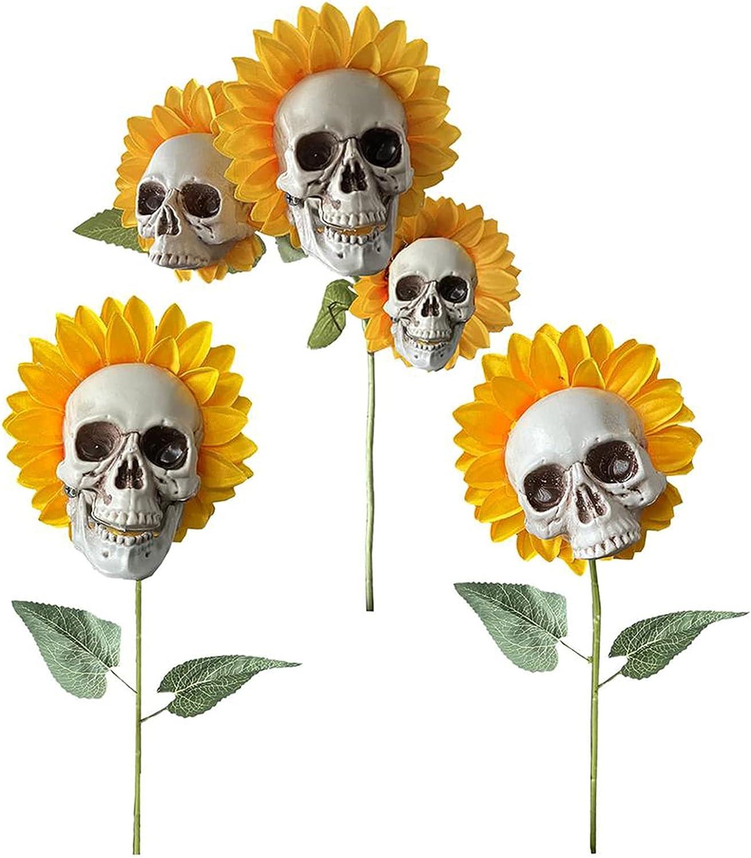 Skull Head Popular product Simulation Excellence Sunflower Garden Decoration Patio Lawn Yar