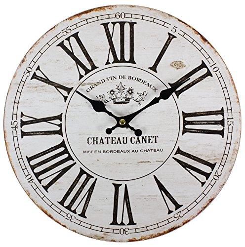 perla pd design Glaswanduhr Quarzuhr Vintage Design Chateau Canet ca. Ø 30 cm