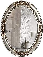 WECDS Badkamer ijdelheid spiegel ovale opknoping spiegel - PU frame waterdicht en vocht -82 * 64CM