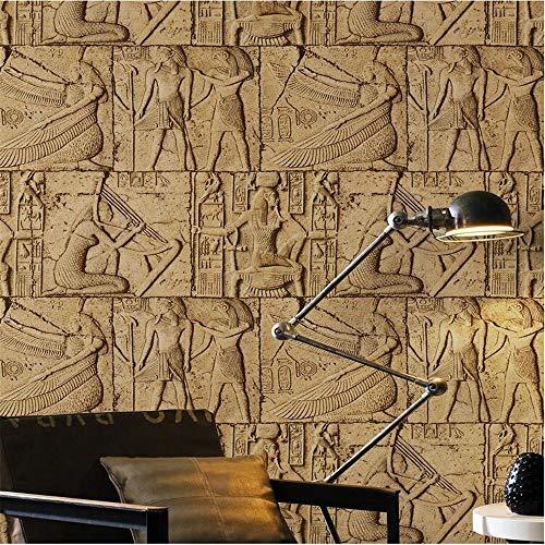 Wandsticker Wandtattoo WanddekorationHochwertige Geprägte Tapete 3D Ägypten Alten Wandmalereien Klassische Skulptur Vintage Pvc Vinyl Wandverkleidung Waterp