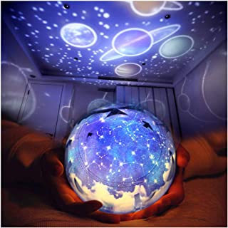 TOURACE Star Night Light for Kids, Universe Projection Romantic Projection Lamp Starry Constellation Birthday Christmas Projector Lamp for Bedroom- 4 Sets of Film -The Galaxy Projectors.