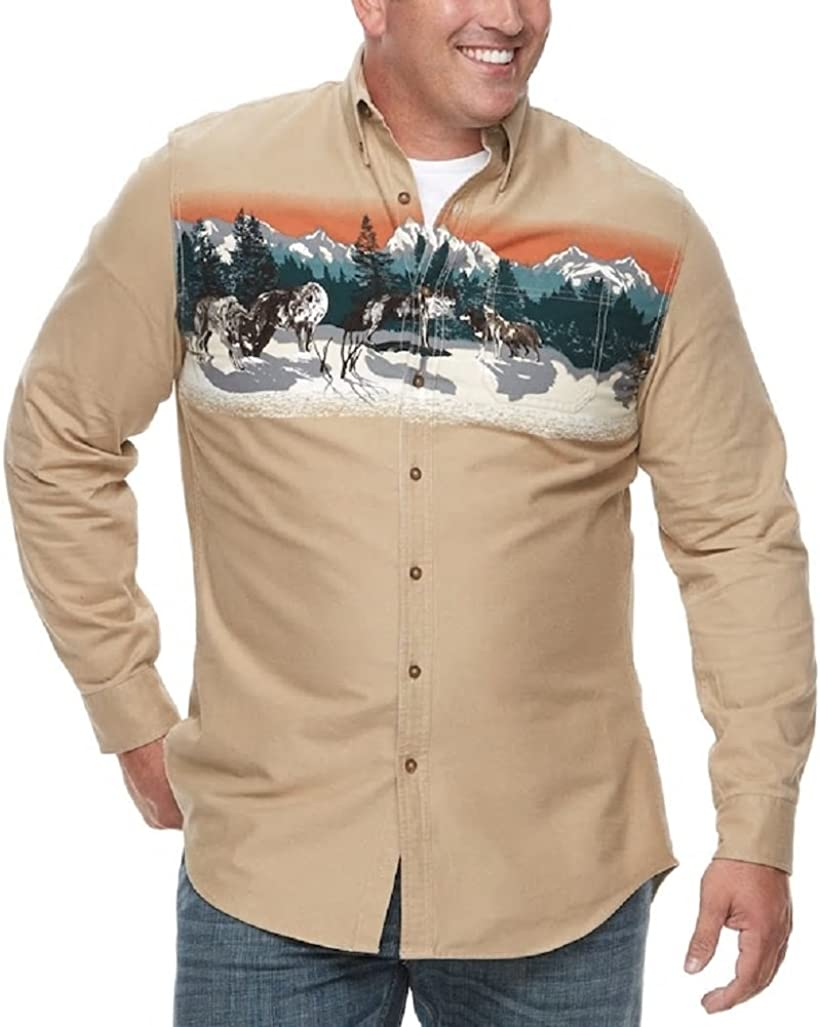 Croft & Barrow Men's Big & Tall Regular-Fit Twill Button-Down Shirt