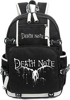 Death Note Anime Light Yagami Cosplay Luminoso Messenger Bag Mochila Mochila escolar