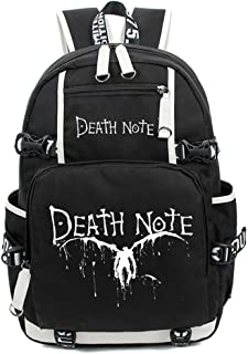 Death Note Anime Light Yagami Cosplay Luminous Messenger Bag Backpack School Bag