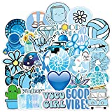 LYDP 50 pegatinas de dibujos animados para maleta, pegatinas azules, pegatinas para ordenador portátil, pegatinas...