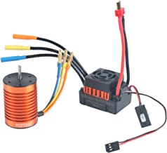 RCRunning F540 3930KV Brushless Motor Waterproof with 45A ESC Electronic Speed Controller Combo Set 3.175mm Shaft for 1/10 RC Car Truck by
