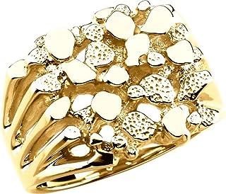 FB Jewels 14K الذهب الأصفر الرجال ناغمة الدائري