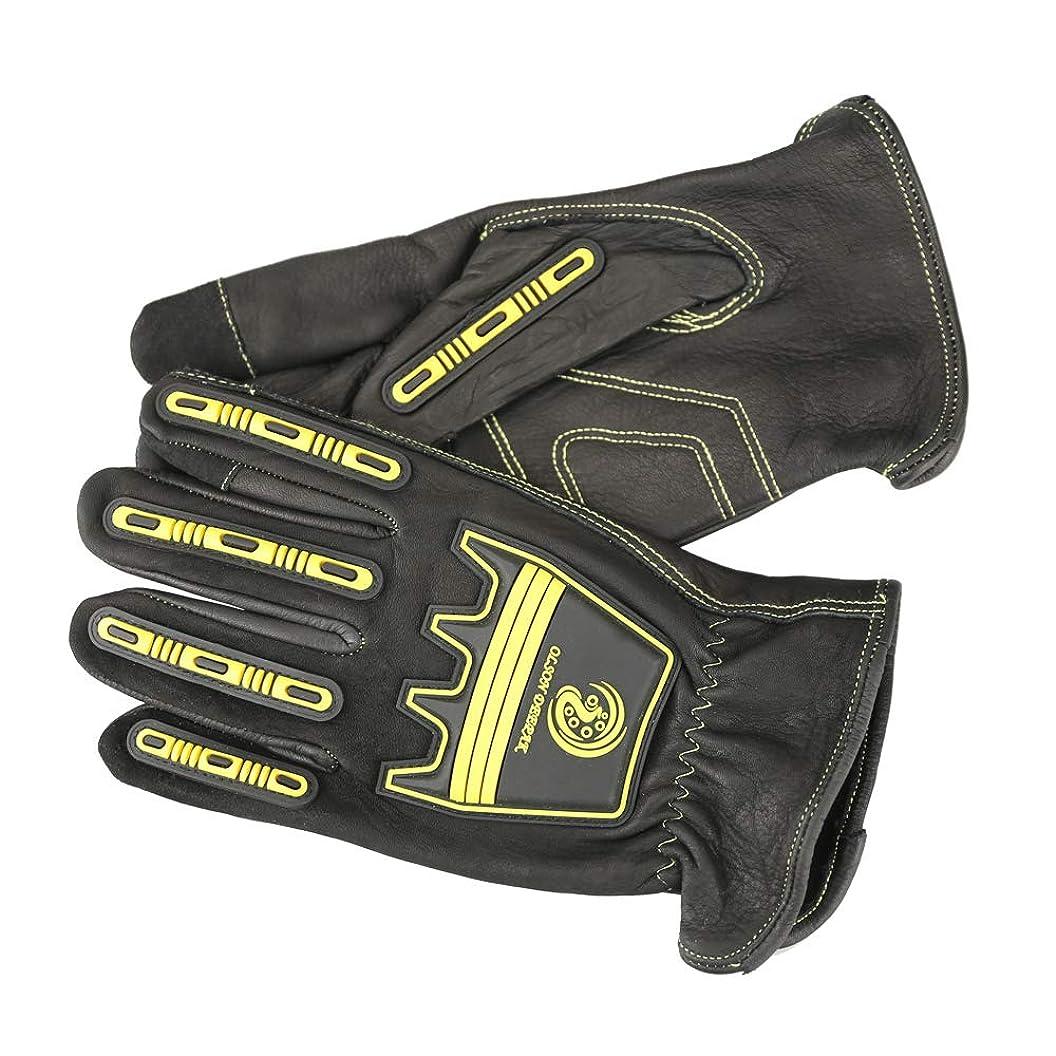 Cowhide Work gloves Mechanics gloves Cut and Impact Protection, Padded Palm (Extra Large) epzcxohzoda50