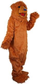 Langteng brun björn hariy tecknad maskot kostym äkta bild 15-20 dagar leverans märke