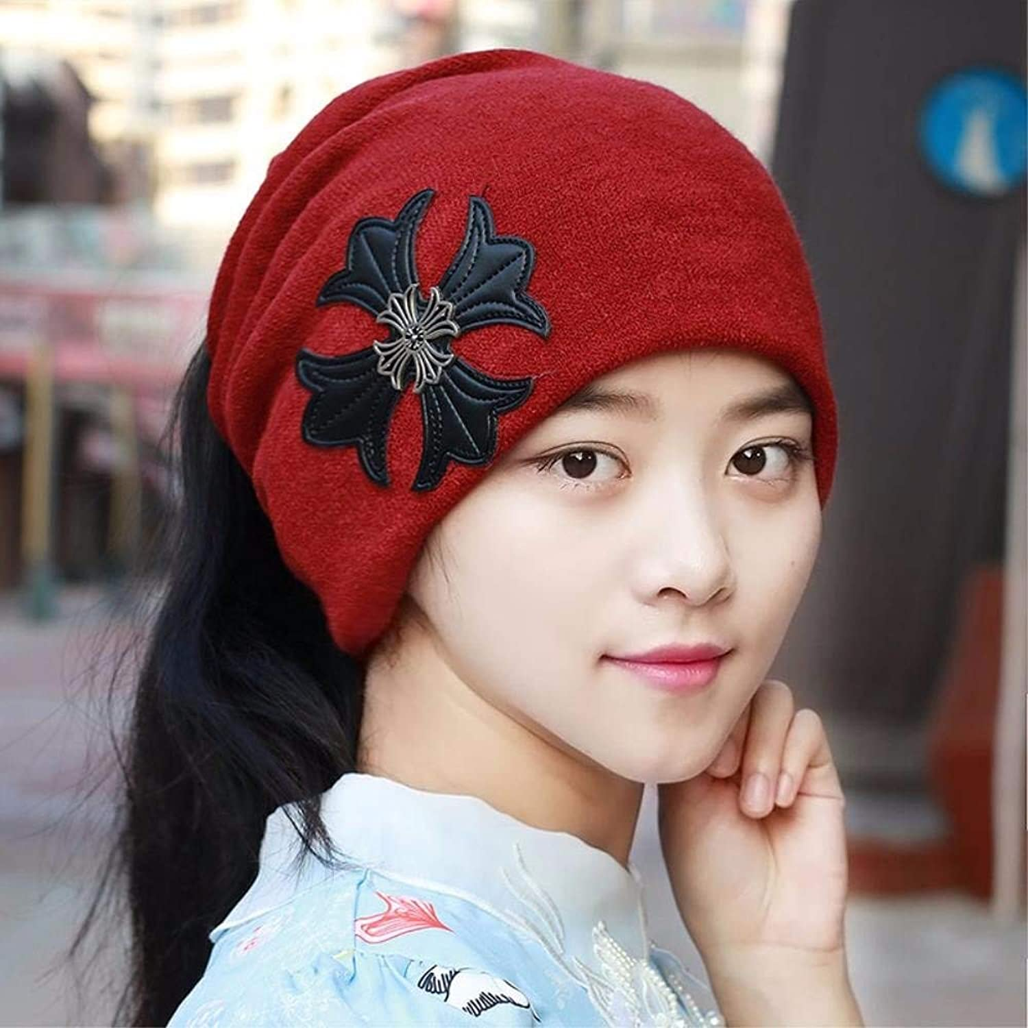 Chuiqingnet Both men and women, the fallwinter ear cap, also set the hatscarf men Baotou hat set of head cap Storehouse