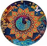 Myfei Rompecabezas - Criatura Huaxia - Un Pavo Real en su Orgullo - 1000 Piezas Rompecabezas Rich Color Challenge 1000 PCS Rompecabezas Redondos.