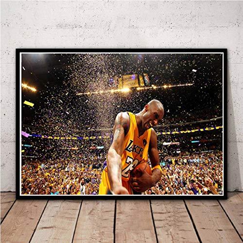 zaishuiyifang Jugador De Baloncesto MVP Superstar Arte Sin Marco Lienzo Pintura Cartel Hogar Pintura Decorativa Mural Sin Marco Affiche A2214(40X50Cm)