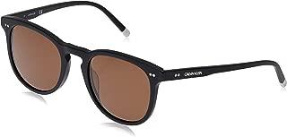 Calvin Klein Unisex-Adult Calvin Klein Unisex Ck4321s Round Sunglasses CK4321S-115 Round Sunglasses, MATTE BLACK, 51 mm