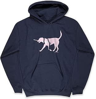 Girls Lacrosse Hooded Sweatshirt | LuLa The Lax Dog Pink