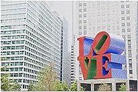 HDフィラデルフィアペンシルベニア-超高層ビル9028676の愛の像(大人のためのプレミアム1000ピースジグソーパズル19x27)