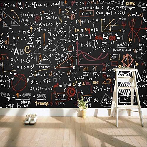 3D behang niet geweven grote aangepaste muurschildering naadloze persoonlijkheid aanpassing geometrisch Blackboard wiskundige vergelijking woonkamer bank tv achtergrond,D